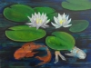Water Lillies with Koi